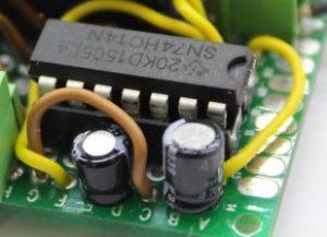 Entprellung durch Schmidttrigger und Kondensator
